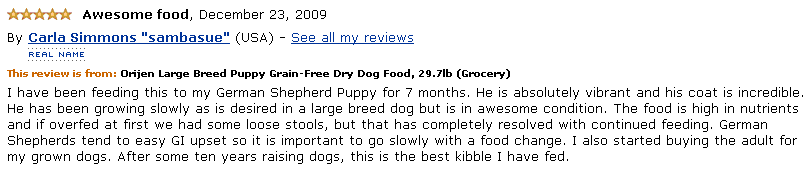 orijen puppy large reviews