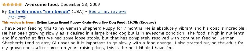orijen puppy large reviews