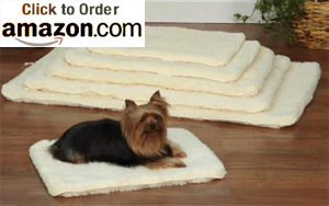 Double Sided Sherpa Dog Crate Mat in Natural
